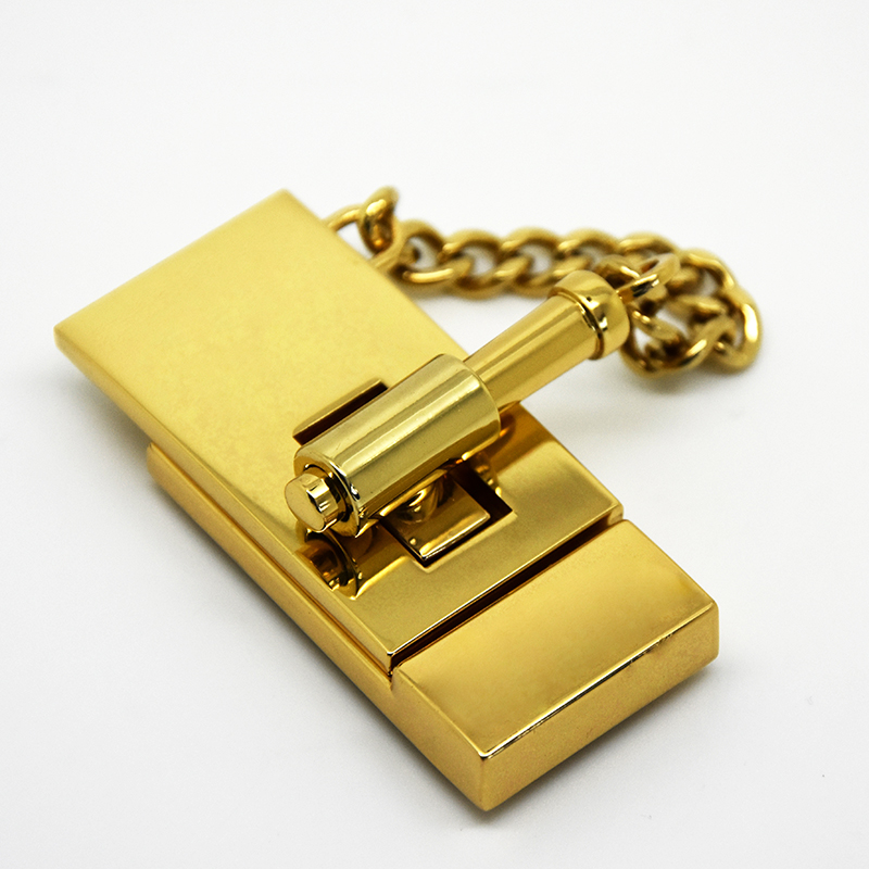 L2767 Chloe Lock Handbag Metal Turn High Quality Bag Hardware Manufacturer Luxury Ings Custom Buckle Snaphook
